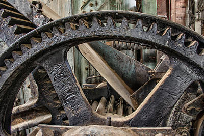 Photograph - Custer Dredge Gears 2 by Leland D Howard