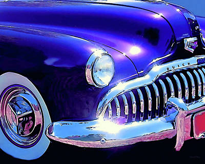 Photograph - Custom 1949 Purple Buick by David King