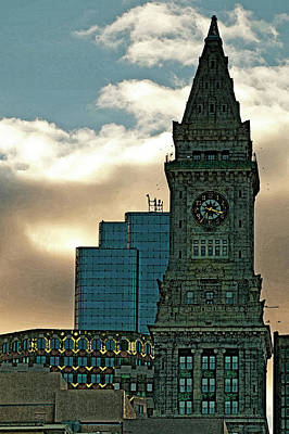 Photograph - Custom House In Water Color by Paul Mangold