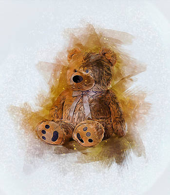 Digital Art - Cute Bear by Ian Mitchell