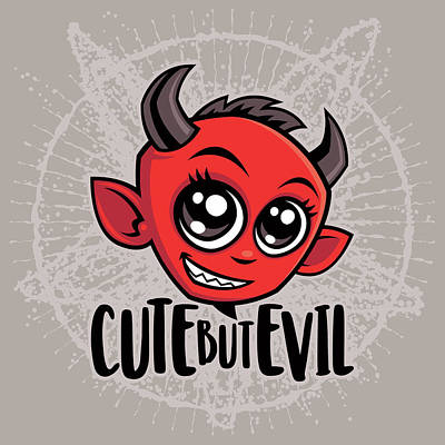 Royalty-Free and Rights-Managed Images - Cute But Evil by John Schwegel