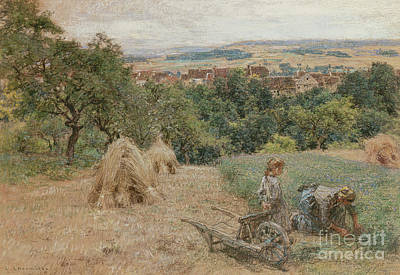 Painting - Cutting Grass by Leon Augustin Lhermitte