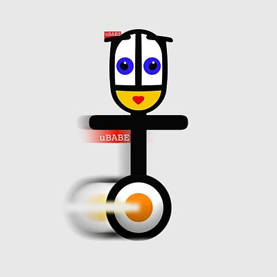 Digital Art - Cycle Babe by Ubabe Style