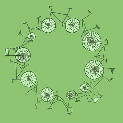 Cycle Art Print by Illustrations