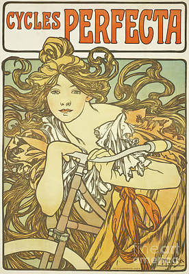 Painting - Cycles Perfecta, 1897 by Alphonse Marie Mucha