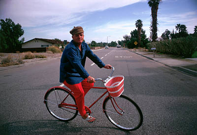Human Interest Photograph - Cycling Capote by Slim Aarons
