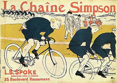 Painting - Cyclists By Henri De Toulouse-lautrec by Fine Art Images