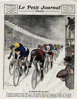 People Digital Art - Cyclists Piet Van Kempen 1898-1985 by Leemage