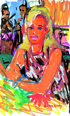 Painting - Cynthia At The Palm Club by Candace Lovely