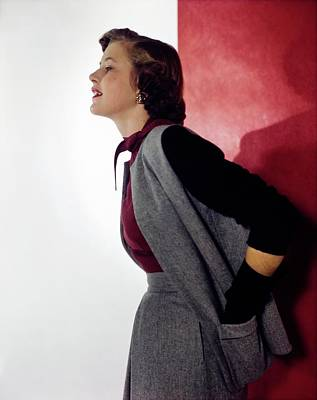 Photograph - Cynthia Mcdonald In Gray Flannel by Horst P. Horst