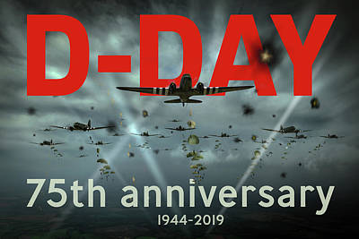 Photograph - D-day 75th Poster by Gary Eason