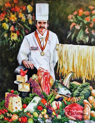 Painting Rights Managed Images - Daddy...Chef Sebastian Buster Ambrosia Royalty-Free Image by Misha Ambrosia