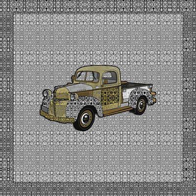 Digital Art - Dad's Old Truck by Diego Taborda