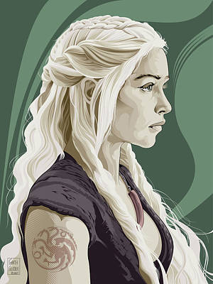 Comics Royalty-Free and Rights-Managed Images - Daenerys Targaryen by Garth Glazier