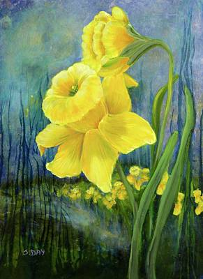 Painting - Daffodil Dream by Sandra Day