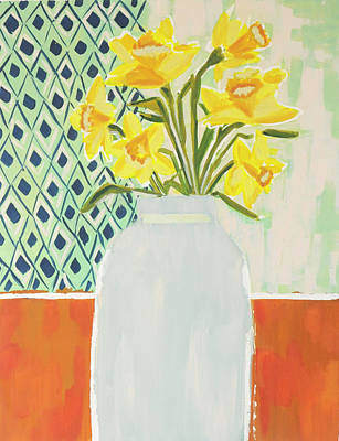 Wall Art - Painting - Daffodils by Kaley Alie
