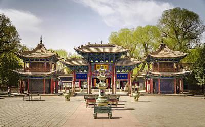 Photograph - Dafo Great Buddha Temple Gate Zhangye Gansu China by Adam Rainoff