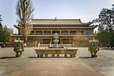Photograph - Dafo Great Buddha Temple Zhangye Gansu China by Adam Rainoff