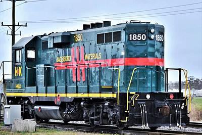 Photograph - Dagsboro Materials Train Engine by Kim Bemis