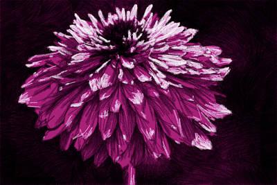 Photograph - Dahlia En Rose by Alice Gipson