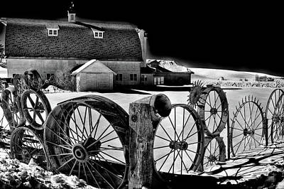 Photograph - Dahmen Barn In Winter by David Patterson