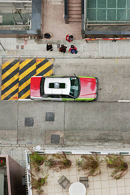 Photograph - Daily Life Seen From Above, Taxi And by Christian Aslund