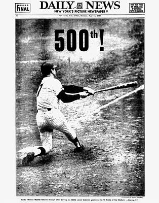 Photograph - Daily News Back Page Dated May 15 by New York Daily News Archive
