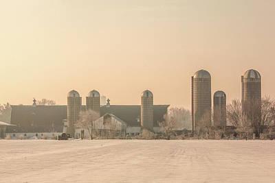 Photograph - Dairy Barn And Silos by Todd Klassy