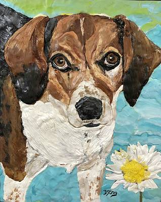 Mixed Media - Daisy Duke by Deborah Stanley