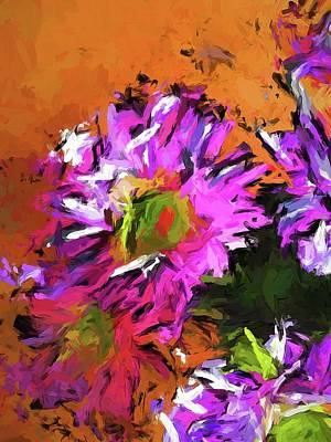 Painting - Daisy Rhapsody In Lavender And Pink by Jackie VanO