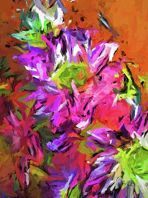 Painting - Daisy Rhapsody In Purple And Pink by Jackie VanO