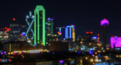 Photograph - Dallas Bokeh Lights by Dan Sproul