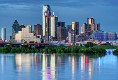 Photograph - Dallas Skyline Reflection 32119 by Rospotte Photography