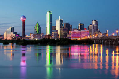 Photograph - Dallas Skyline 122618 by Rospotte Photography