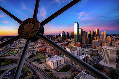Photograph - Dallas Skyline At Dusk by Gregory Ballos