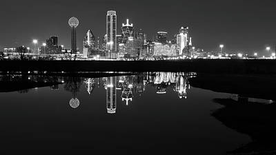 Robert Bellomy Royalty-Free and Rights-Managed Images - Dallas Texas Cityscape Reflection by Robert Bellomy