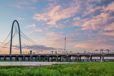 Photograph - Dallas Texas Dawn - Margaret Hunt Hill Bridge by Gregory Ballos