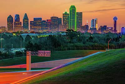 Photograph - Dallas Texas Skyline Morning View by Gregory Ballos