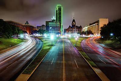 Photograph - Dallas Texas Skyline Over Dealey Plaza by Gregory Ballos