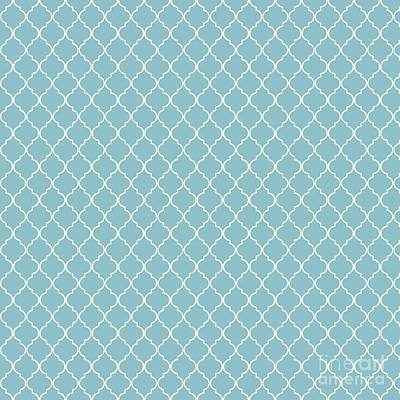 Digital Art - Damask Blue Petit Four by Sharon Mau