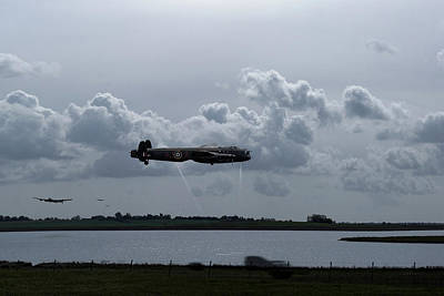 Digital Art - Dambusters Rehearsing At Abberton Reservoir Small Version by Gary Eason