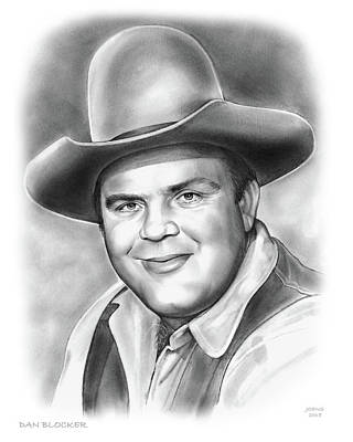 Drawing - Dan Blocker 10sep18 by Greg Joens