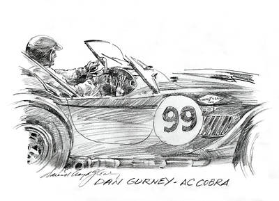 Sports Paintings - Dan Gurney Racing Ac Cobra 289 by David Lloyd Glover
