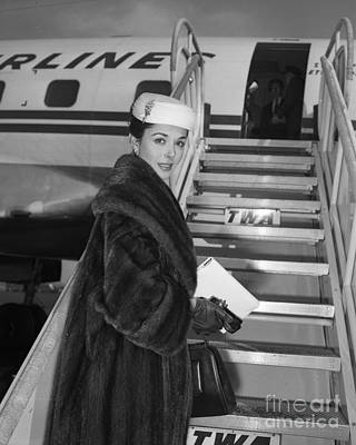 Photograph - Dana Wynter In New York by New York Daily News Archive