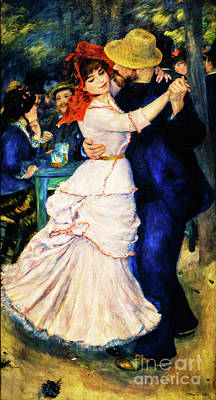 Painting - Dance At Bougival by Auguste Renoir