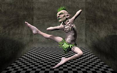 Fantasy Royalty-Free and Rights-Managed Images - Dance goblin by Joaquin Abella