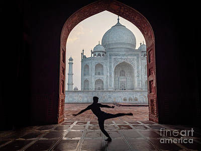Photograph - Dancer At The Taj by Robin Zygelman