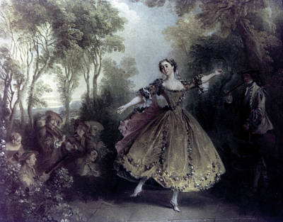 Painting - Dancer Camargo By Nicolas Lancret, 1730 by Superstock