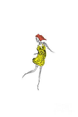 Digital Art - Dancer In A Summer Dress by Clayton Bastiani