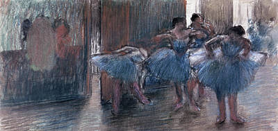 Painting - Dancers By French Artist Edgar Degas by Superstock